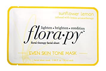 Floral Therapy Facial Sheet Even Skin Tone Mask Sunflower Lemon - 1 Sheet(s) by Florapy (pack of 2) Yes To Carrots Normal To Dry Skin, Fragrance Free, Intense Hydration Night Cream, 1.7 Oz (Pack of 6) + 3 Count Eyebrow Trimmer