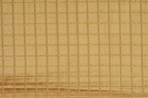 Bright Yellow Gold Silk Shantung Windowpane 44