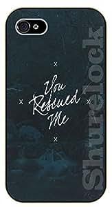iphone 5c You rescued me - black plastic case / Life Quotes