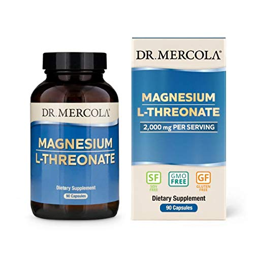 Dr. Mercola, Magnesium L-Threonate, 2,000 mg Per Serving, 30 Servings (90 Capsules), Superior Absorption Characteristics, Non GMO, Soy-Free, Gluten Free by Dr. Mercola