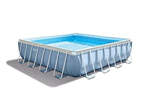 """Intex 14' x 42"""" Prism XL Frame Square Above Ground Pool Set with Filter Pump"""