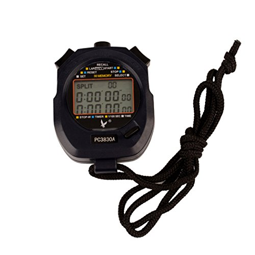 inkint Professional Sports Stopwatch 3 Row 30 Memory Handheld Stop Watches for Men Lap Counter Running Timer (Lap Counter With Timer compare prices)