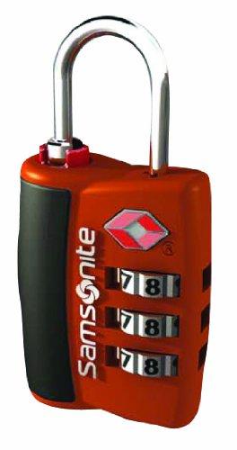 Samsonite Luggage 3 Dial Travel Sentry Combo Lock  Juicy Orange