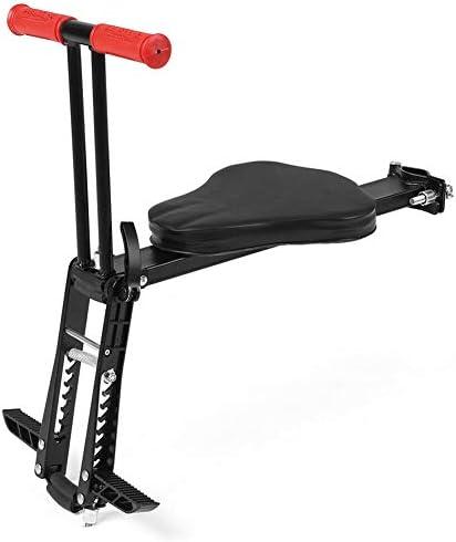 Josenap チャイルドバイクシートクイックディスマウントシート、アームレストおよびペダル付き簡単な取り付け折りたたみ式安全シート、自転車用電動自転車