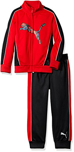 Puma Tricot Track Pant (PUMA Little Boys' Track Set, Fierce Red, 5)