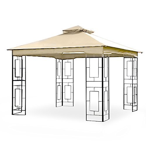 Garden Winds LCM1157B Treasures Geo Gazebo Replacement Canopy, Beige