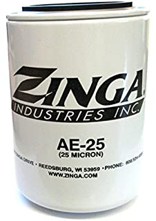 "Zinga AE-10 Hydraulic Filter 10 Micron 1/""-12 Thread 3.8/"" D x 5.8/"" T NEW SEALED"