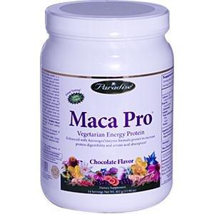 Paradise Herbs Maca Jusqu'à Protéines en poudre, chocolat, 452 gram