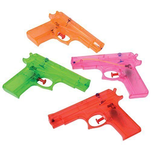 Large Shooter (US Toy Assorted Color Large Plastic Squirt Water Guns - Set of 12)