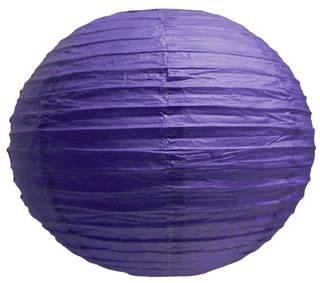 Perfectmaze 6 Piece 14'' (Inch) Round Chinese Paper Lantern for Wedding Party Engagement Decoration_Purple