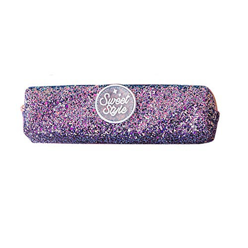 (1KTon Creative Sequins Large Capacity Cosmetic Bag for Purse Pencil Case Rectangular Makeup Bag Waterproof Glitter Cute Toiletry Pouch)