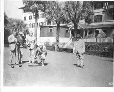 Photo Lawn Bowling Jekyll Island Georgia 1932