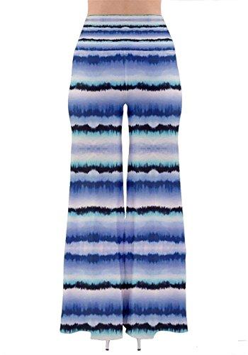Casual Tendance Eté Verticales Trousers Battercake Dame Bouffant Loisirs Droit Rayures Elégante Femme Large Mode Blau Modèle De Printemps Pantalon Impression Longues Confortable 0zUOw0