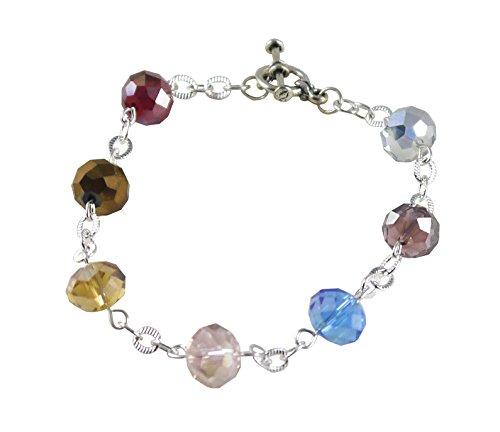 Sparkling Crystal Chakra Bracelet - 7 1/2, Color Therapy, Station Syle