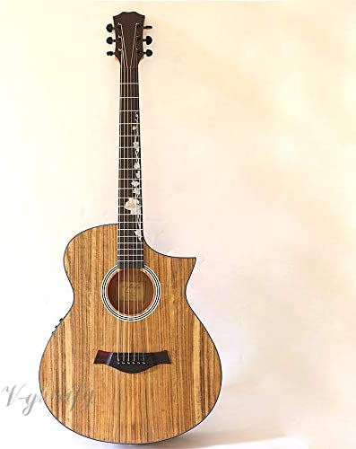 Guitarra acústica eléctrica de ángulo afilado de 40 pulgadas, con ...