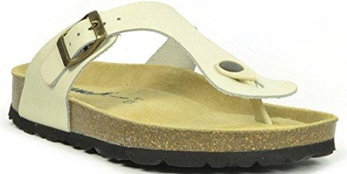 Geneve Zapatos Cuero Marfil Sandalias Sanosan Mujeres 6xfYnYZ