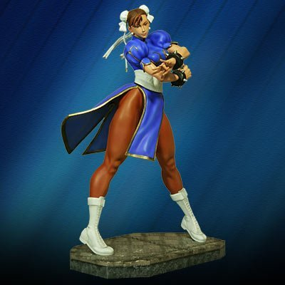 Hollywood Collectibles Street Fighter: Chun-LI Statue (1:4 Scale) - Street Fighter Chunli Adult Costumes