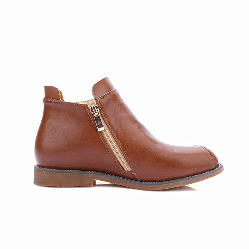 Latasa Womens Fashion Pleated Flats Fall Ankle Boots Light Brown dfxWV