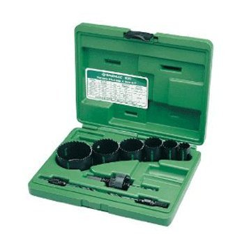 Greenlee 830 Bi-Metal Hole Saw Kit, Conduit Sizes 7/8