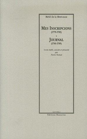 """mes inscripcions ; journal intime"" pdf epub"