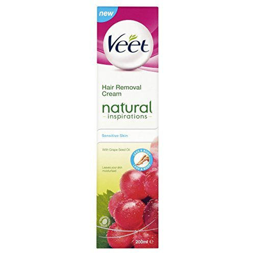 Veet Natural Inspirations Hair Removal Cream for Sensitive Skin, 200ml by Veet