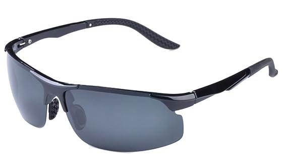 Eyekepper TR90 Sport Wrap Sonnenbrillen UV 400 Linse fuer alle Outdoor-Aktivitaeten (Schwarz, G15)