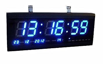 Blu-ray / Vert Calendrier numérique / LED Horloge numérique Montres ...