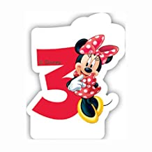 Unique Party Cafe Disney Minnie Mouse 3rd Birthday Candle