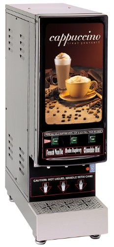 Grindmaster-Cecilware 3K-GB-LD 3-Flavor Hot Powder Cappuccino/Hot Chocolate and Specialty Beverage (Flavor Cappuccino Dispenser)