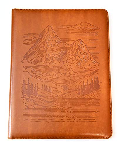 - Mountains Padfolio by SohoSpark, Designer Faux Leather Portfolio, 8.5x11 Letter-Size Document Organizer, Resume Holder, Business Folder with Pen Holder