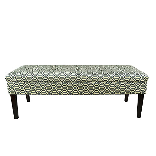Ashton Bench (MJL Furniture Designs Kaya Collection Upholstered and Padded Button Tufted Accent Bedroom Bench, Cott-Ashton Series, Wedgewood)