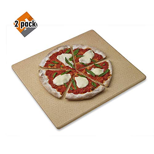 Old Stone Oven Rectangular Pizza Stone 2 Pack