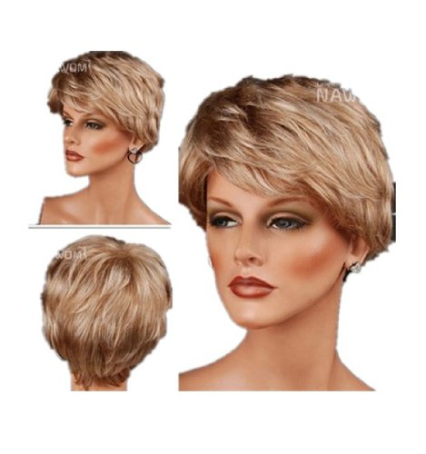 - Gooaction Women's Short Curly Light Brown Wig Cosplay Party Heat Resistant Synthetic Hair Wigs For Women