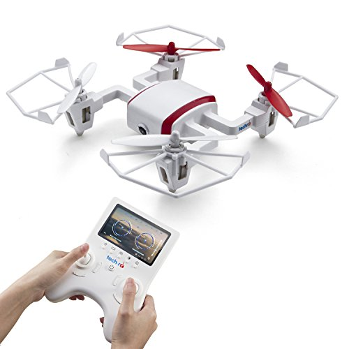 Tech RC TR002 FPV Drone with HD Camera Wifi Live Video Quadcopter 720p Headless 360 Flip Mode 5.8GHz 6 Axis Gyro Helicopter