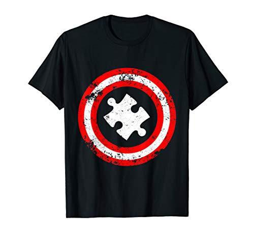Captain Autism Superhero T-Shirt - Autism Awareness Shirts -