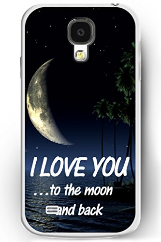 Galaxy S4 Case, Samsung Galaxy S4 Case Slim Fit Hard Back Cover for Galaxy S4 I Love You to the Moom and Back