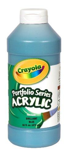pint Squeeze Bottle Non-Toxic Acrylic Paint, Brilliant Blue (Crayola Portfolio Series Acrylic Paint)