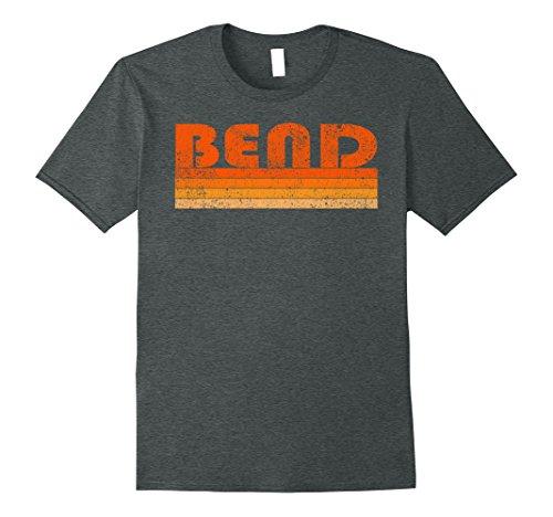 Mens Vintage Retro Bend Oregon T-Shirt Large Dark - Oregon Shops Gift Bend