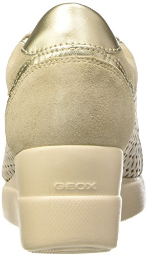 Geox D Stardust a, Zapatillas para Mujer Multicolor (Beige / Lt Taupe)