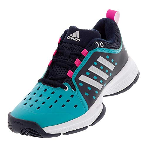 adidas Women's Barricade Classic Bounce Tennis Shoe, Legend Ink/Matte Silver/hi-res Aqua, 6 M US