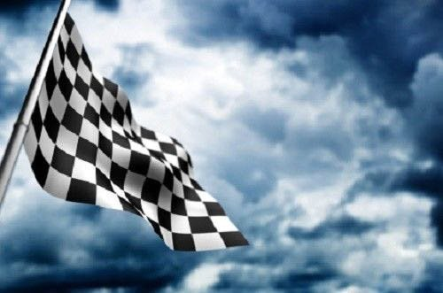 Black And White Nascar Checkered 4X6 Foot Flag Banner (150D Super Polyester)