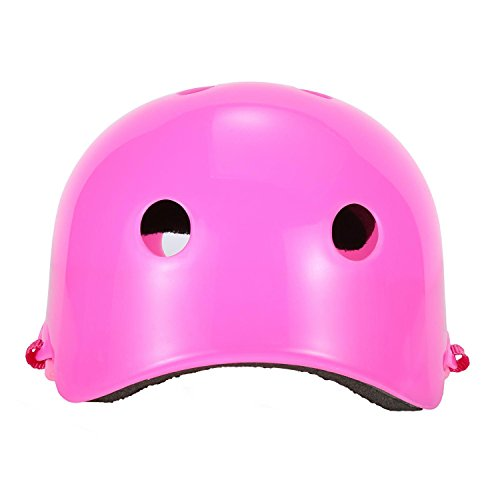 ASIBT Kid's Skateboard Helmet Sets Cycling Roller Skating Helmet Elbow Knee Pads Wrist Sport Safety Protective Guard Gear Set for Children of age 3-8 years old (Pink) by ASIBT (Image #5)