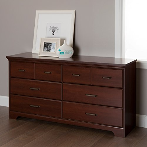 Cherry Bedroom Furniture Set Wood (South Shore Versa 6-Drawer Double Dresser, Royal Cherry)