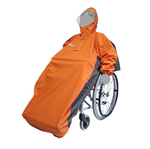 【車椅子】車椅子用レインコート アクトフリーN ■ オレンジベース B00GA0BGWK オレンジベース オレンジベース