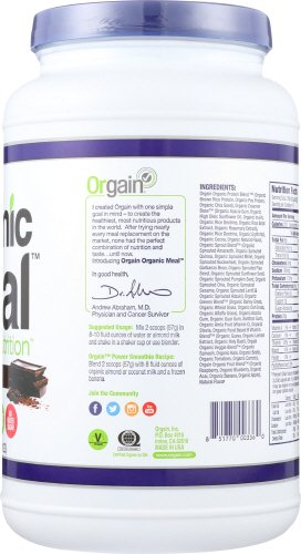 Orgain Organic Plant Based Meal Powder, 2 Flavors, 2.01 Pound, 1 Count