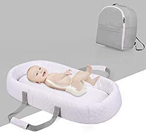 Baby Nest for Newborn and Babies, Baby Pod Cocoon Double Sided, Baby Bassinet for Bed/Lounger/Nest/Pod/Cot Bed/Sleeping, Breathable & Hypoallergenic Cotton/Standard Style C