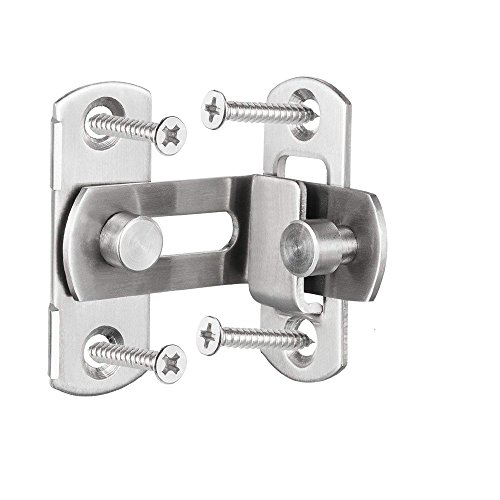 2 Large 90 Degree Right Angle Door Latch Buckles Curved Latch Bolts Sliding Lock Lever Bolts for Doors and Windows by ming (Image #2)