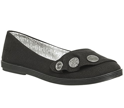 Blowfish Gayls Black Pumps Canvas Rancher qOq7RZxw
