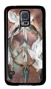 Samsung Galaxy S5 Case, Samsung Galaxy S5 Cases -Dreams of Peace Native American Custom PC Hard Case Cover for Samsung S5/Samsung Galaxy S5 Black