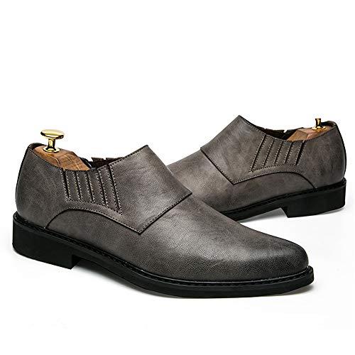 uomo 42 Oxford Scarpe da Fashion 2018 Color EU all'usura British Business Grigio resistenti britanniche Casual e Xujw Dimensione Scarpe shoes Grigio Basse comode Stringate 41q8C